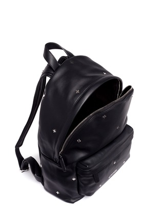 Detail View - Click To Enlarge - Givenchy - Small cross stud leather backpack