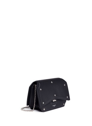 Figure View - Click To Enlarge - Givenchy - 'Bow Cut' cross stud leather crossbody bag