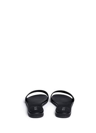 Back View - Click To Enlarge - Michael Kors - 'Eleanor' strass satin slide sandals