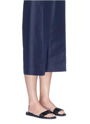 Figure View - Click To Enlarge - Michael Kors - 'Eleanor' strass satin slide sandals