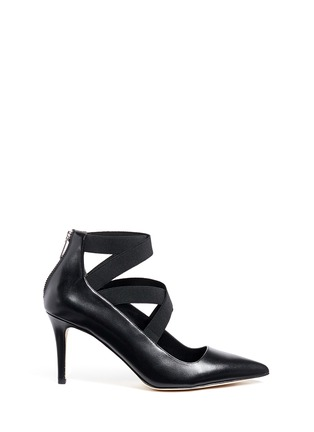 Main View - Click To Enlarge - Michael Kors - 'Viva' crisscross strappy leather pumps