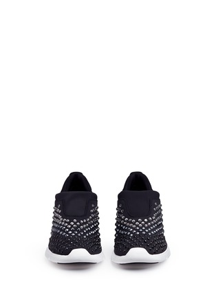 Front View - Click To Enlarge - MICHAEL KORS - 'Ace' embellished scuba slip-on sneakers