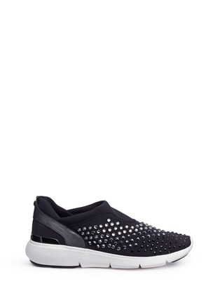 Main View - Click To Enlarge - MICHAEL KORS - 'Ace' embellished scuba slip-on sneakers