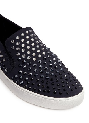 Detail View - Click To Enlarge - Michael Kors - 'Keaton' embellished scuba skate slip-ons