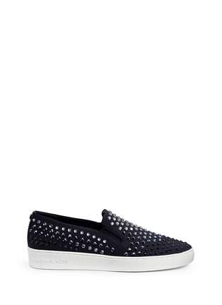 Main View - Click To Enlarge - Michael Kors - 'Keaton' embellished scuba skate slip-ons