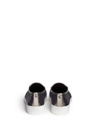Back View - Click To Enlarge - Michael Kors - 'Keaton' metallic sequin slip-ons