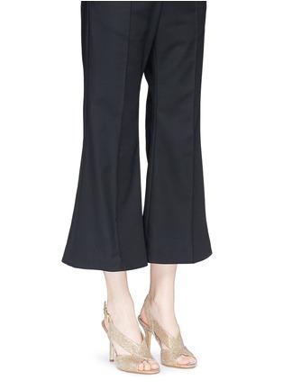 Figure View - Click To Enlarge - MICHAEL KORS - 'Becky' metallic glitter lamé slingback sandals