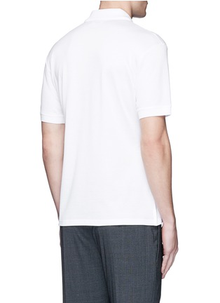 Back View - Click To Enlarge - Alexander McQueen - Logo stud placket polo shirt