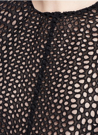 Detail View - Click To Enlarge - Lanvin - Eyelet broderie anglaise dress