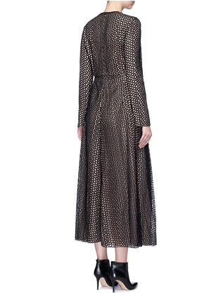 Back View - Click To Enlarge - Lanvin - Eyelet broderie anglaise dress