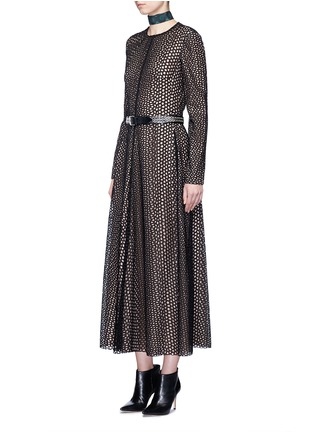 Figure View - Click To Enlarge - Lanvin - Eyelet broderie anglaise dress