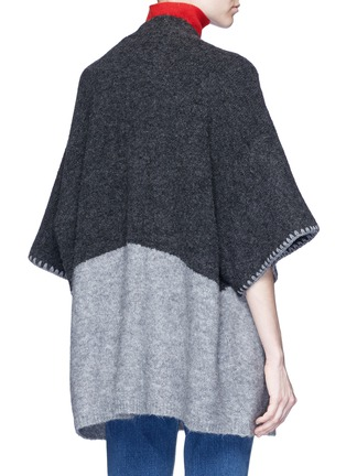 Back View - Click To Enlarge - alice + olivia - 'Rikkie' chevron trim wool blend poncho