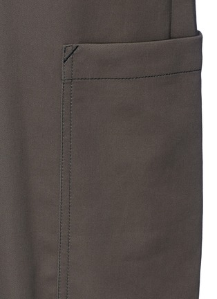 Detail View - Click To Enlarge - HELMUT LANG - Tie waist utility cotton twill jumpsuit