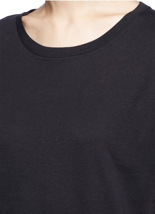Detail View - Click To Enlarge - Vince - Scoop neck cotton T-shirt