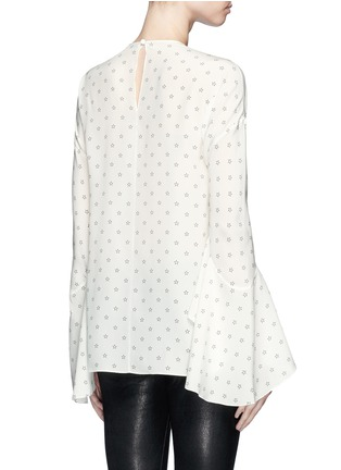 Back View - Click To Enlarge - GIVENCHY - Bell cuff star print silk top