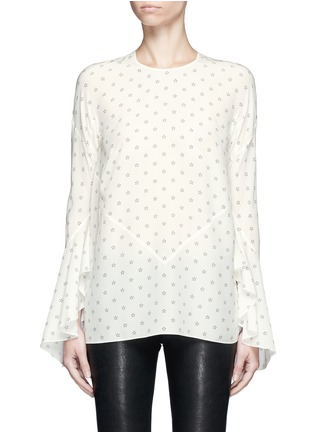 Main View - Click To Enlarge - GIVENCHY - Bell cuff star print silk top