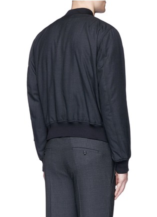 Back View - Click To Enlarge - Alexander McQueen - Padded wool bomber jacket
