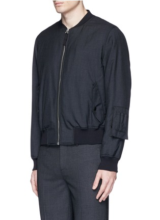 Front View - Click To Enlarge - Alexander McQueen - Padded wool bomber jacket