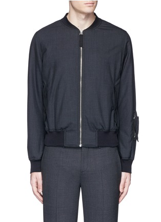 Main View - Click To Enlarge - Alexander McQueen - Padded wool bomber jacket
