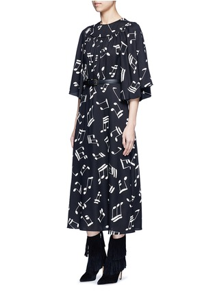 Figure View - Click To Enlarge - SAINT LAURENT - Musical note print midi dress