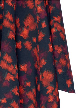 Detail View - Click To Enlarge - GIVENCHY - Cutout mermaid hem floral print skirt