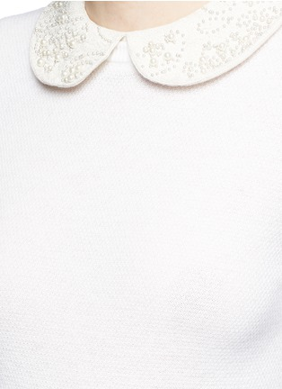 Detail View - Click To Enlarge - alice + olivia - 'Radley' embellished peter pan collar sweater