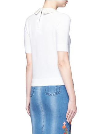 Back View - Click To Enlarge - alice + olivia - 'Radley' embellished peter pan collar sweater