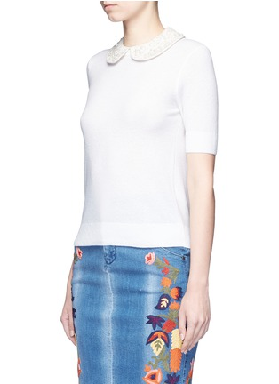 Front View - Click To Enlarge - alice + olivia - 'Radley' embellished peter pan collar sweater