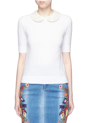 Main View - Click To Enlarge - alice + olivia - 'Radley' embellished peter pan collar sweater