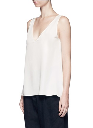 Front View - Click To Enlarge - Theory - 'Narcyz' V-neck silk shell top