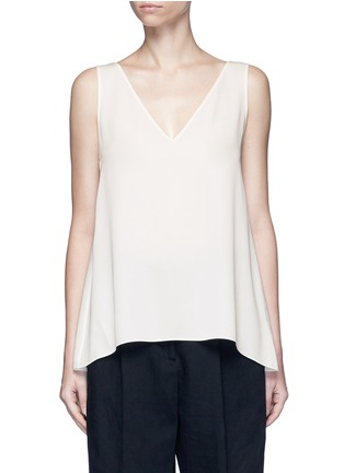 Main View - Click To Enlarge - Theory - 'Narcyz' V-neck silk shell top