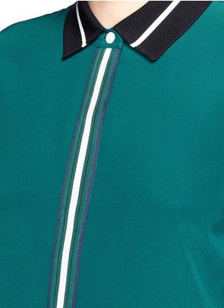 Detail View - Click To Enlarge - rag & bone - 'Nico' contrast ribbon trim silk shirt