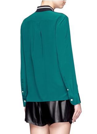 Back View - Click To Enlarge - rag & bone - 'Nico' contrast ribbon trim silk shirt