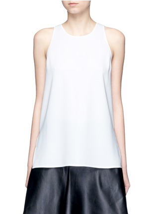 Main View - Click To Enlarge - VINCE - Laser cut crepe tank top