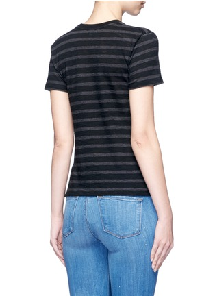 Back View - Click To Enlarge - Vince - Stripe cotton jersey T-shirt