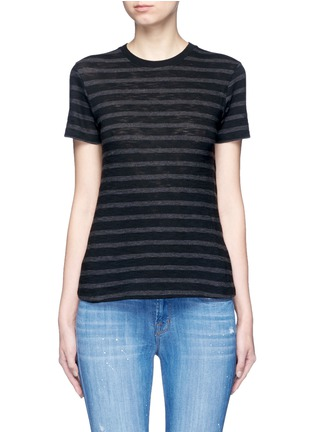 Main View - Click To Enlarge - Vince - Stripe cotton jersey T-shirt