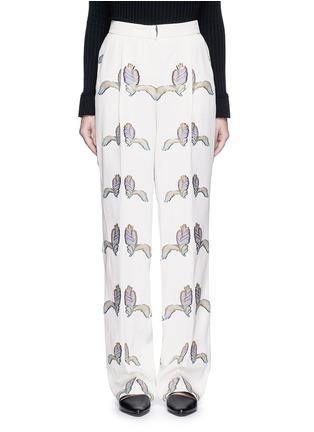 Main View - Click To Enlarge - Emilio Pucci - Feather fil coupé wide leg pants