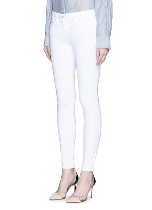 Front View - Click To Enlarge - L'Agence - 'The Chantal' skinny ankle grazer jeans