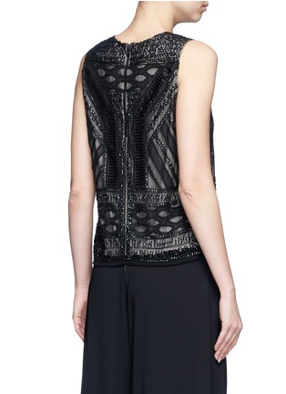 Back View - Click To Enlarge - alice + olivia - 'Sharla' tribal sequin bead embellished top