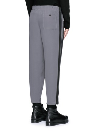 Back View - Click To Enlarge - Alexander McQueen - Side stripe cropped jogging pants