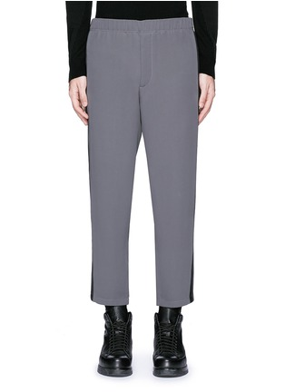 Main View - Click To Enlarge - Alexander McQueen - Side stripe cropped jogging pants