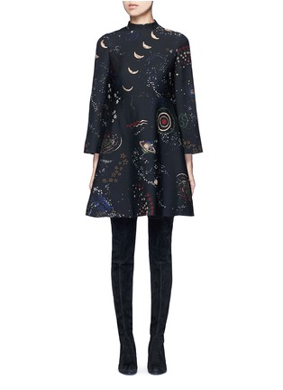 Main View - Click To Enlarge - Valentino - Cosmos print Crepe Couture dress