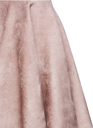 Detail View - Click To Enlarge - Alaïa - Velour knit flared skirt