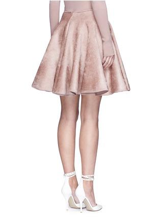 Back View - Click To Enlarge - Alaïa - Velour knit flared skirt