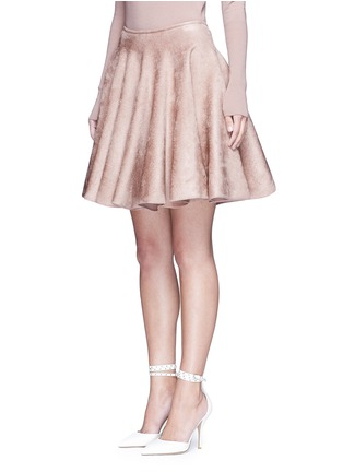 Front View - Click To Enlarge - Alaïa - Velour knit flared skirt
