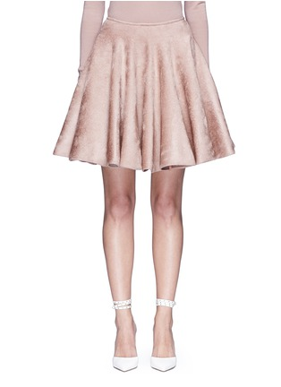 Main View - Click To Enlarge - Alaïa - Velour knit flared skirt