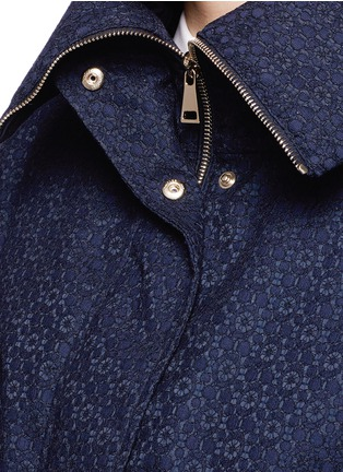 Detail View - Click To Enlarge - Moncler - 'Paqueline' floral lace hooded jacket