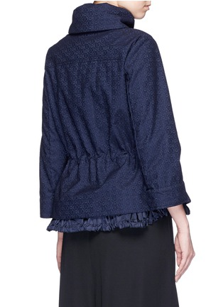 Back View - Click To Enlarge - Moncler - 'Paqueline' floral lace hooded jacket