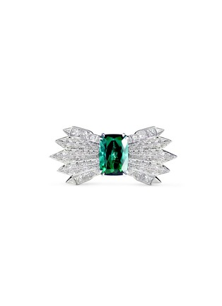 Main View - Click To Enlarge - Melville Fine Jewellery - 'Northern Light II' diamond pavé tourmaline 18k white gold ring