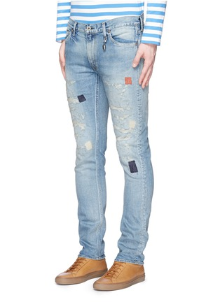 Front View - Click To Enlarge - FDMTL - 'Figure Case Study 201' boro patchwork jeans